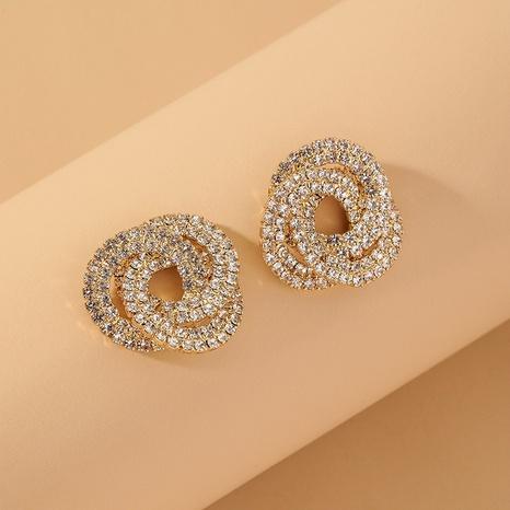 golden geometric full diamond earrings NHNJ317449's discount tags