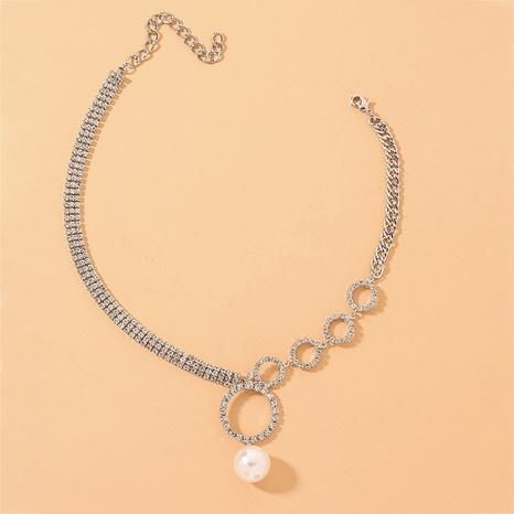 collier à pendentif en perles de diamant simple NHNJ317456's discount tags