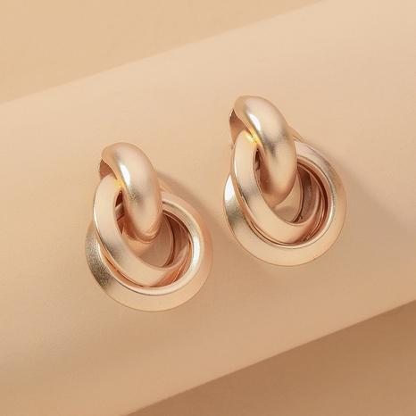fashion metallic circle earrings  NHNJ317459's discount tags