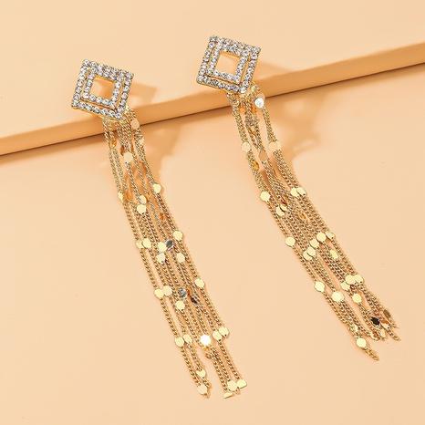 long tassel metal earrings NHNJ317471's discount tags