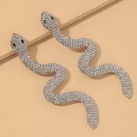 schlangenförmige Ohrringe in Diamantform NHNJ317477