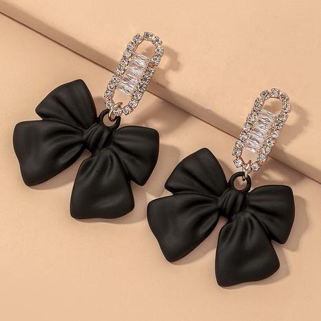 diamond bow fashion earrings NHNJ317490's discount tags