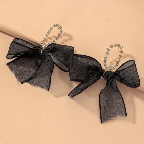 black diamond bow earrings NHNJ317506's discount tags