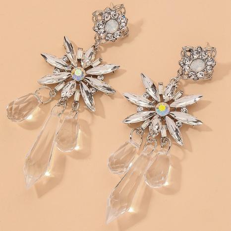 fashion rhinestone crystal flower earrings  NHNJ317518's discount tags