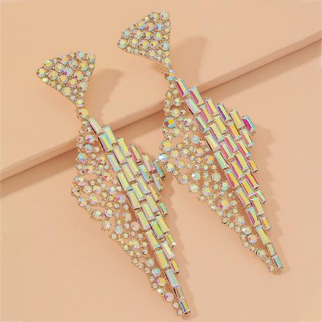 full diamond rhombus earrings NHNJ317521's discount tags