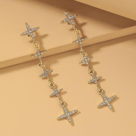 diamond star earrings  NHNJ317522's discount tags
