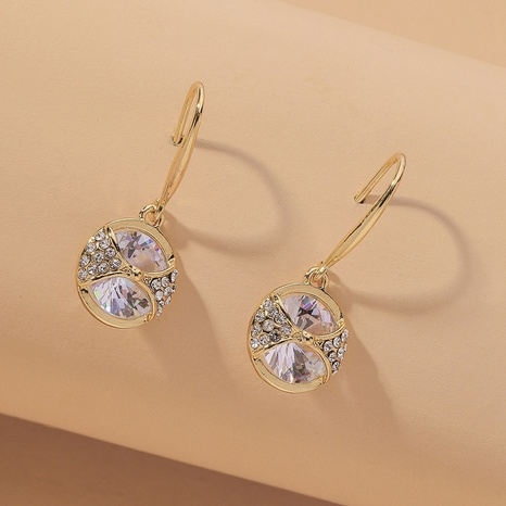 zircon fashion simple earrings NHNJ317526's discount tags