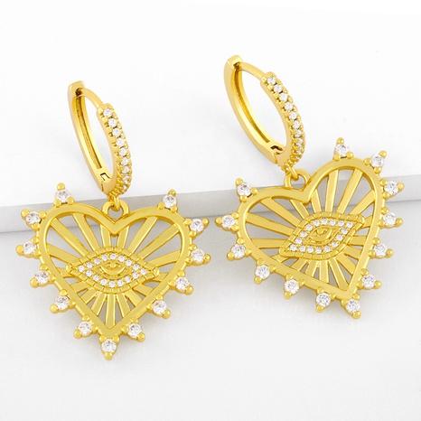 creative fashion hollow love eye earrings NHAS317538's discount tags