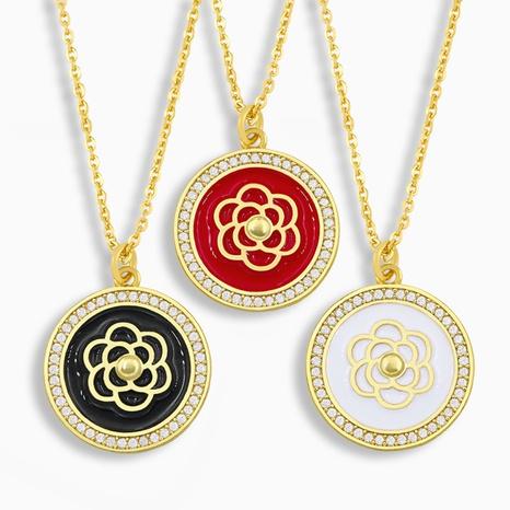 Collar de cobre redondo simple coreano NHAS317532's discount tags