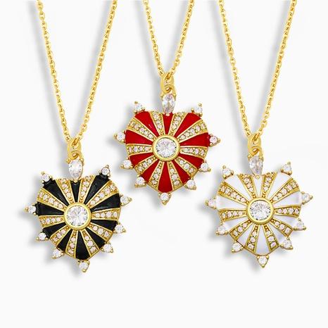 fashion peach heart love pendant necklace NHAS317533's discount tags