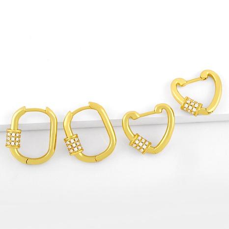 retro geometric oval diamond earrings NHAS317540's discount tags