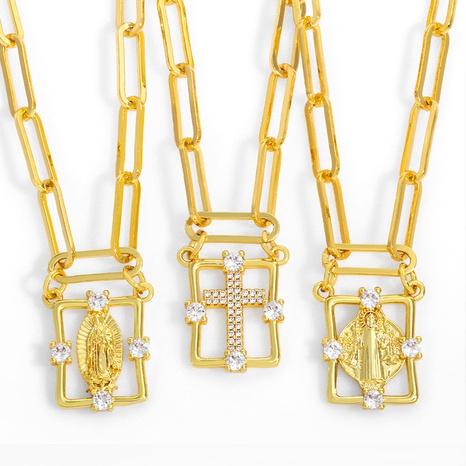 nueva moda simple cruz colgante collar NHAS317535's discount tags