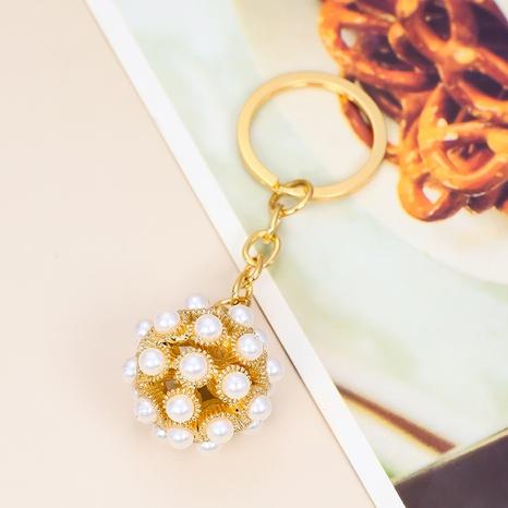 Rhinestone pearl alloy ball keychain NHAP317674's discount tags
