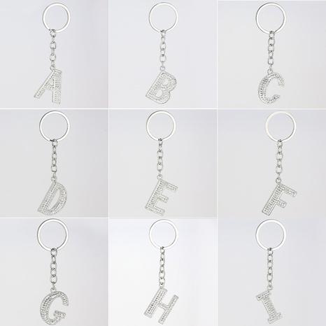 fashion 26 English letters diamond soft ceramic keychain NHAP317676's discount tags