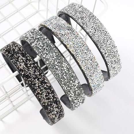 Banda de pelo de acrílico tachonado de diamantes de resina simple de moda NHJE317791's discount tags