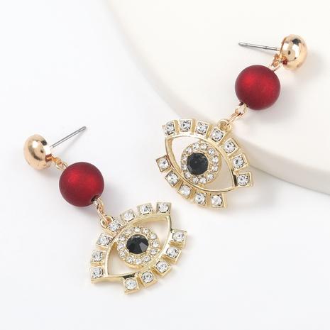 nuevos pendientes de ojo de acrílico de aleación con diamantes incrustados NHJE317788's discount tags