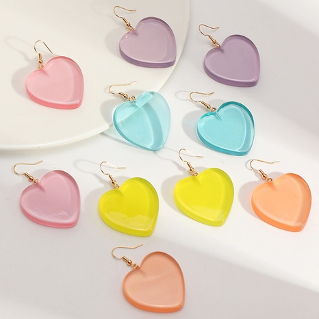 fashion sweet cute candy color love earrings NHNZ317809's discount tags