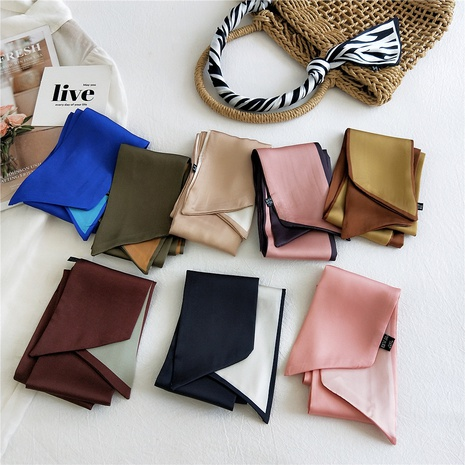 Double-sided two-color long scarf  NHMN317812's discount tags