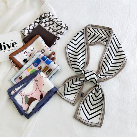 fashion simple Flat-angle silk scarf  NHMN317816's discount tags
