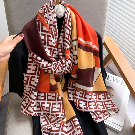Bufanda de seda de lino de moda de Corea NHCJ317826's discount tags
