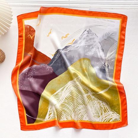 fashion square printing wild scarf NHCJ317846's discount tags