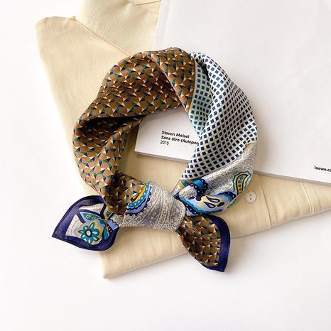 nouveau foulard carré en soie de mûrier NHCJ317860's discount tags