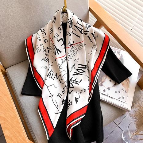 bufanda de seda con letras de moda NHCJ317880's discount tags