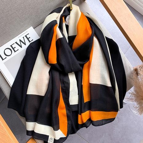 bufanda de seda de lino de nueva moda salvaje cálido mantón NHCJ317881's discount tags