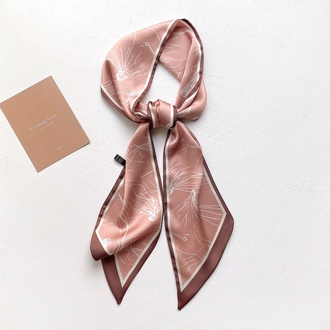 Écharpe nouée à rayures sauvages coréennes NHCJ317909's discount tags
