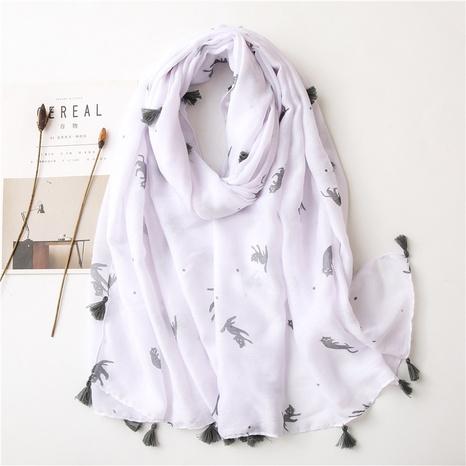 fashion shawl korean cat tassel shawl silk scarf NHGD317936's discount tags