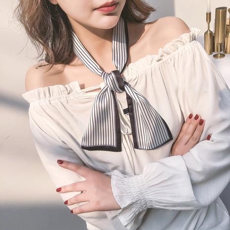 nouveau petit foulard en soie décoratif coréen NHCM317950's discount tags