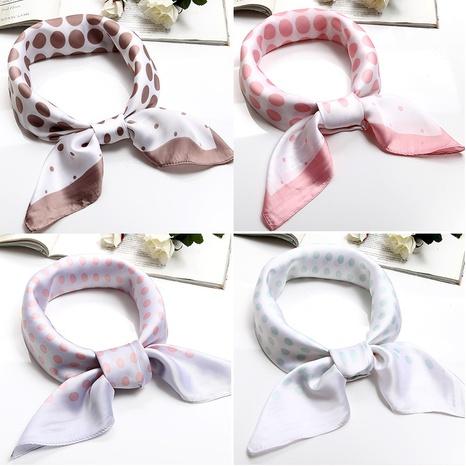 Korean polka dot small square scarf  NHCM317953's discount tags