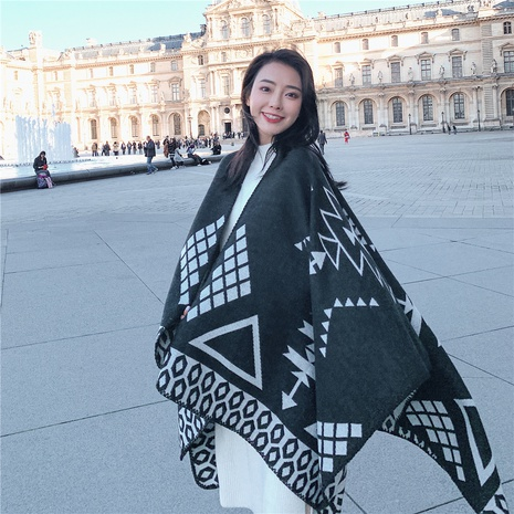 Korean fashion oversized scarf NHCM317975's discount tags
