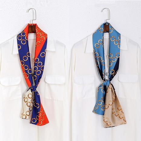 bufanda de seda de imitación de primavera y verano NHCM317987's discount tags