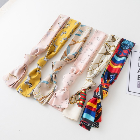 Spring and summer imitation silk small long fashion scarf NHCM317989's discount tags