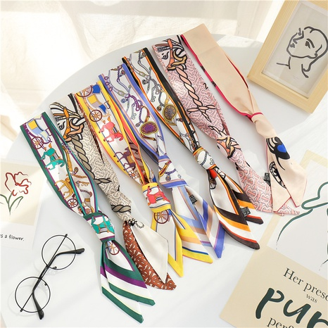 bufanda larga de seda de imitación NHCM317991's discount tags