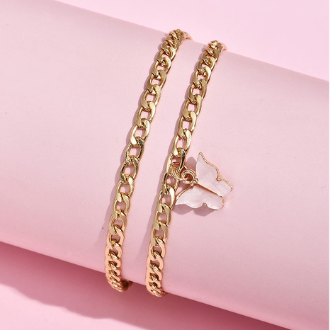 fashion Butterfly Twist Chain Multilayer New Anklet NHAJ318043's discount tags
