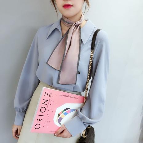 Korean pure color retro scarf tie  NHCM317996's discount tags