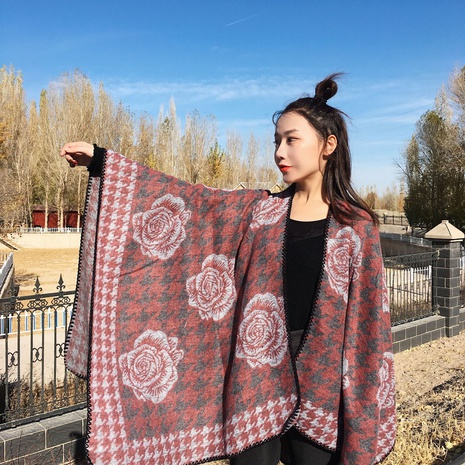 Ethnic style thickened square scarf NHCM318005's discount tags