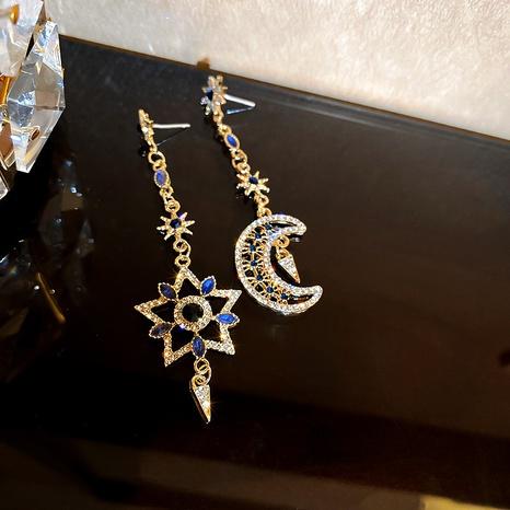 Mode übertrieben Stern Mond lange asymmetrische Ohrringe NHQC318039's discount tags