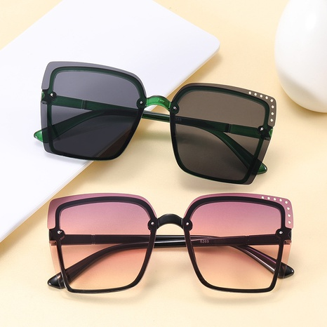 new fashion hollow square frameless sunglasses NHKD317657's discount tags