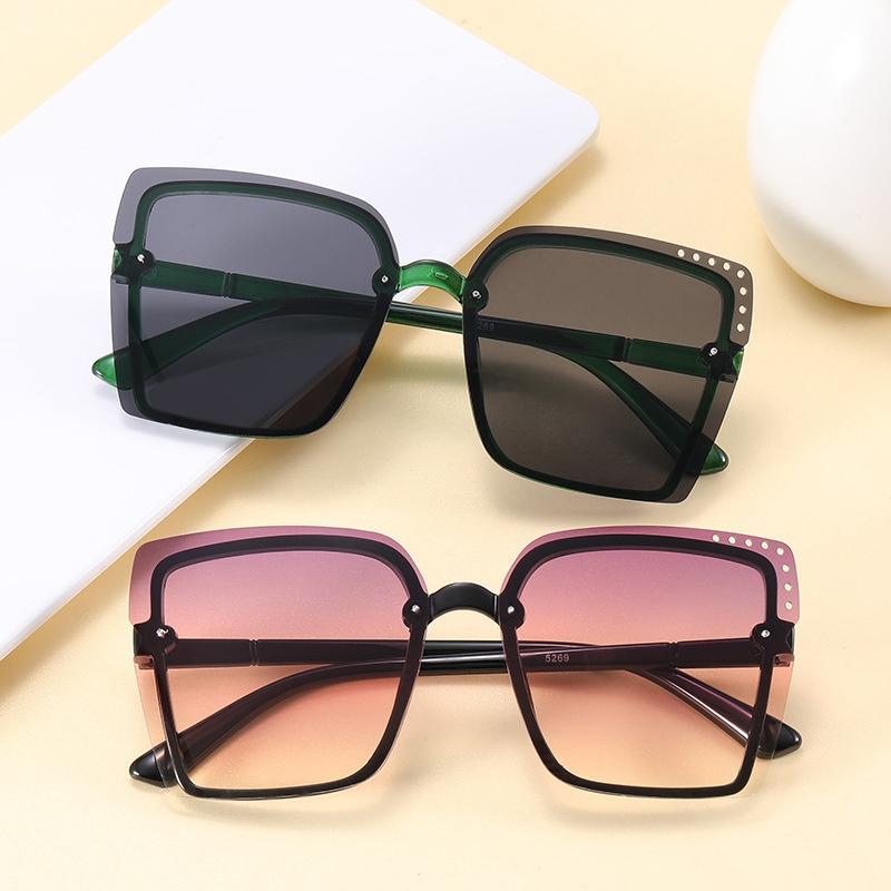 new fashion hollow square frameless sunglasses NHKD317657