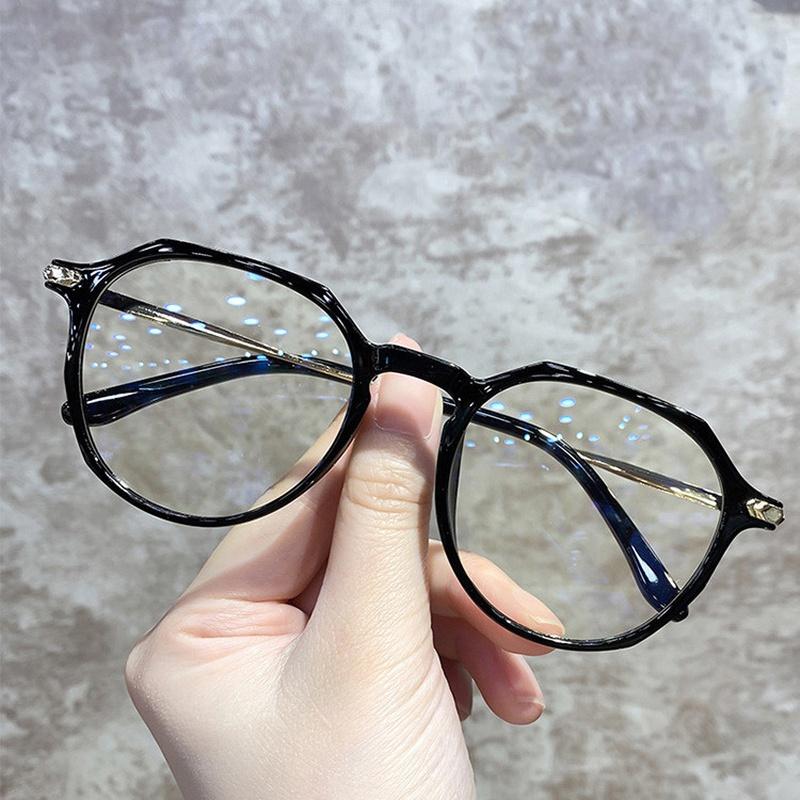 Anti-Blu-ray frame irregular new retro glasses NHKD317662