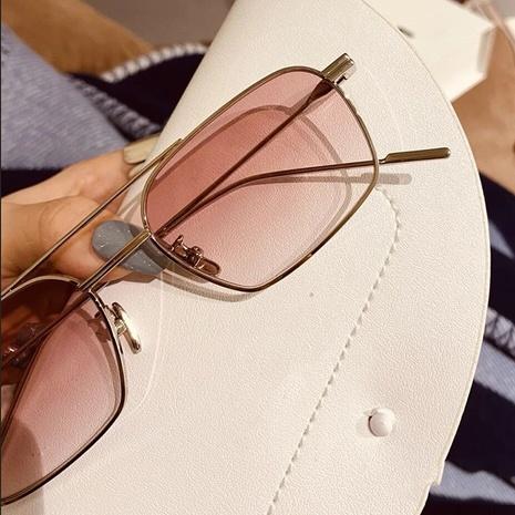 lunettes de soleil en métal à double faisceau à cadre de mode NHKD317664's discount tags