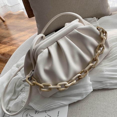 bolsa de mensajero de moda de cadena gruesa de acrílico NHTG318049's discount tags