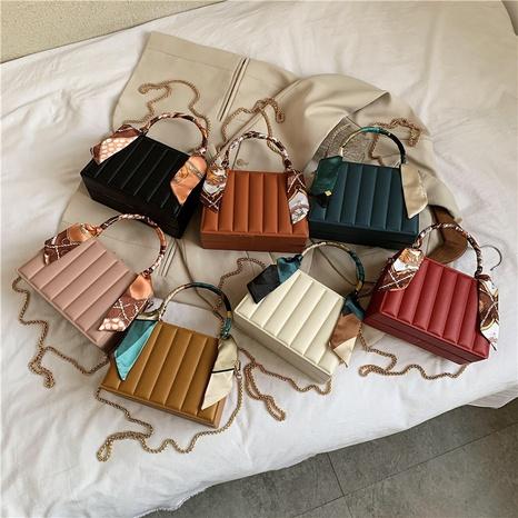 petit sac carré à chaîne foulard en soie NHTG318072's discount tags