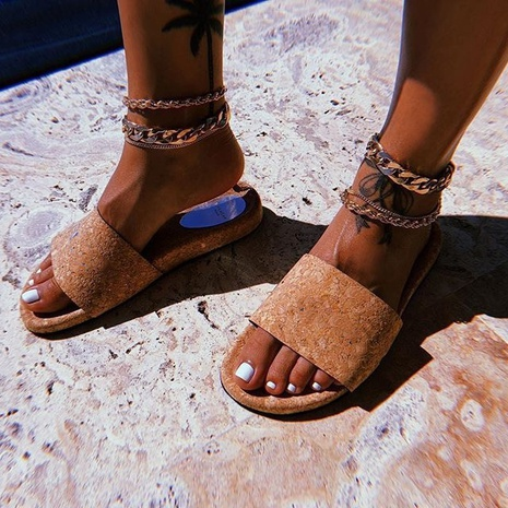 fashion simple metal chain anklet NHAJ318094's discount tags
