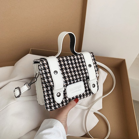 fashion simple houndstooth small square bag NHXC318118's discount tags