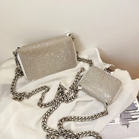 rhinestone mini square bag  NHTC318158's discount tags