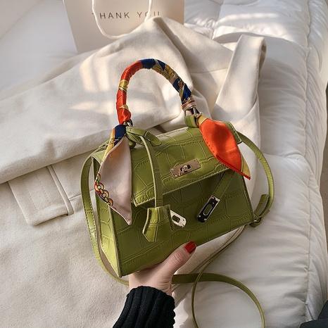 sac bandoulière en cuir à motif crocodile NHJZ318294's discount tags